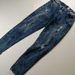 Divided by H&M distressed acid washed mom Jean